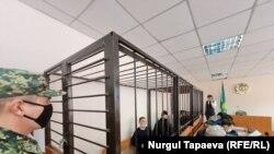 На процессе по делу об убийстве Жанболата Агадила. Нур-Султан, 2 марта 2021 года.