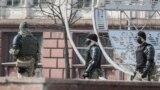 Сілавікі ў цэнтры Менску, сакавік 2021 году.