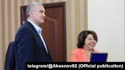 Посол Никарагуа (справа) в Крыму, 17 сентября 2021 года
