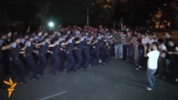 Armenian Police Clear Protesters From Yerevan Street