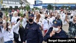 Demonstranti u Bjelorusiji 12. avgusta 2020