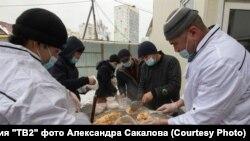 Томск, плов, приготовленный для врачей