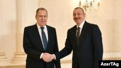 Prezident İ.Əliyev Rusiyanın xarici işlər naziri S.Lavrovu qəbul edir. 21 noyabr 2020