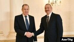 Azərbaycan prezidenti İlham Əliyev və Rusiyanın xarici işlər naziri Sergey Lavrov, 21 noyabr 2020