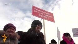 Protestul profesorilor la Chișinău