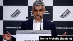 """Sadiq Khan je u govoru nakon objavljivanja rezultata izbora pozvao na """"trenutak nacionalnog pomirenja"""", London, 8. maj"""