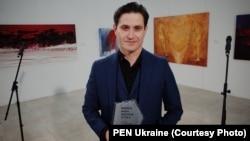 Ахтем Сеітаблаєв під час отримання премії, Київ, 12 вересня 2020 року