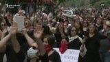 Žene u tišini marširale Santijagom