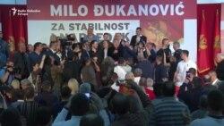 Đukanović i njegove pristalice slave pobjedu