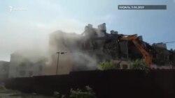 В центре Казани начали снос аварийных домов