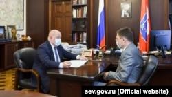 Михайло Развожаєв на зустрічі з Олександром Новаком, 6 серпня 2021 року