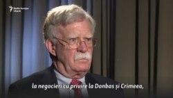 John Bolton: Noi am introdus mai multe sancțiuni împotriva Rusiei decât UE