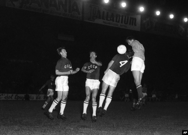 1960 წლის ევროპის ჩემპიონატის ფინალი საბჭოთა კავშირსა და იუგოსლავიას შორის.