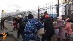 Разгон акции протеста в Астане