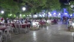 بازگشایی یک کافه ارمنی در شهر حلب پس از پایان خشونت ها