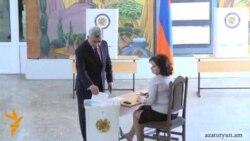Սերժ Սարգսյանը քվեարկել է «զարգացող, բարեկարգ եւ ավելի հարմարավետ Երեւանի համար»