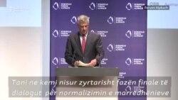 Thaçi shpalos para Vuçiqit idenë për korrigjim të kufijve