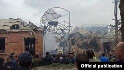 Последствия обстрела Гянджи.