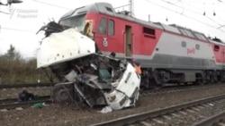 В России поезд сбил застрявший на переезде автобус с гражданами Узбекистана