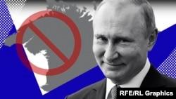 Володимир Путін і Крим. Колаж