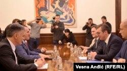 Sastanak Aleksandra Vučića (desno) i Radovana Viškovića (levo) u Beogradu