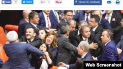 Prethodna tuča u parlamentu krajem aprila, ilustrativna fotografija