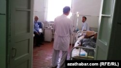 В одной из туркменских больниц для онкобольных. 20 сентября 2013 года.