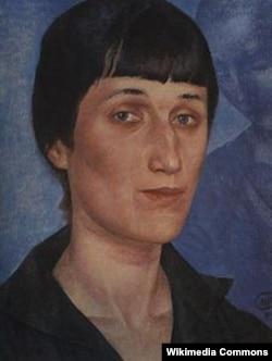 Portretul Anei Ahmatova în 1922 făcut de Kuzma Petrov-Vodkin