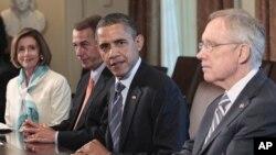 گفتوگوهای مربوط به تعیین سقف بدهی دولت در کاخ سفید.