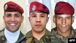 Murdered French paratroopers Imad Ibn Ziaten, Abel Chennouf, and Mohamed Legouade