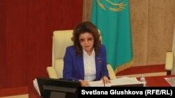 Қазақстанның бұрынғы президенті Нұрсұлтан Назарбаевтың үлкен қызы, сенат депутаты Дариға Назарбаева.