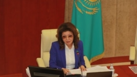 Дарига Назарбаева, депутат парламента Казахстана. Астана, 18 февраля 2015 года.