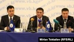 Садыр Жапаров, Камчыбек Ташиев жана Талант Мамытов. 19-июнь, 2013