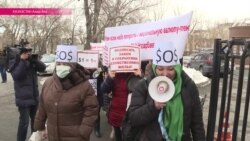 Ипотечники снова прошли маршем протеста по Алма-Ате