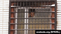 The real life inspiration for the film, Franak Viačorka, in prison in February 2011.