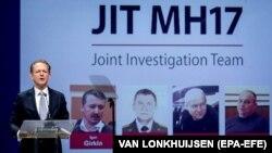 Фред Вестербеке із міжнародної Спільної слідчої групи (JIT) на прес-конференції щодо результатів розслідування збиття MH17 у 2014 році. Нідерланди, 19 червня 2019 року