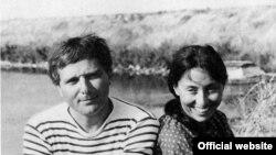 Молодая Юлия Кристева с мужем Филиппом Соллерсом