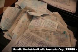 Найденные документы близ президентской резиденции «Межигорье». 25 февраля 2014 года.