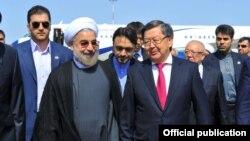 "Встреча президента Ирана в международном аэропорту ""Манас"""