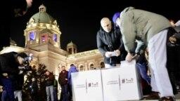 Jedanaesti protest '1 od 5 miliona' u Beogradu