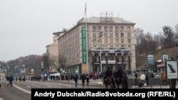 Раніше люди зібралися на Майдані у третю річницю початку Революції гідності, 21 листопада 2016 року