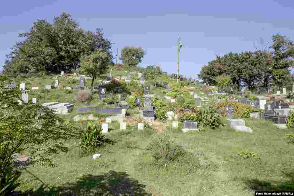 The graveyard in the village of Ambaran.