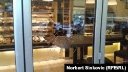 Jedna od razbijenih pekara u Novom Sadu
