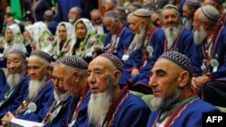 Beards and women's head scarves are frowned upon in parts of Central Asia. (file photo)