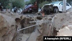 سرازیر شدن سیلاب در ولایت پروان و تخریبات ناشی از آن