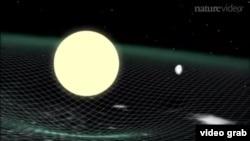 Gravitacijski valovi, ilustracija