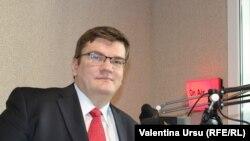 Vice-președintele PUN, Dorin Dușceac, în studioul Europei Libere de la Chișinău