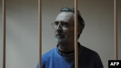 Australian national Colin Russell in the dock in court in St. Petersburg on November 18