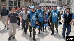 ناظران سازمان ملل در دمشق؛ روز چهارشنبه