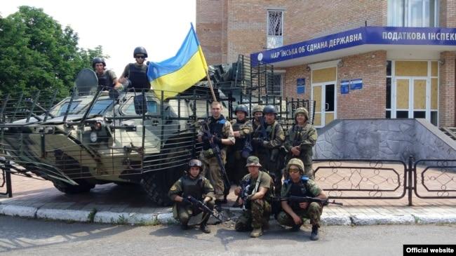 Мар'їнка після відбиття наступу російських гібридних сил, 3 червня 2015 року